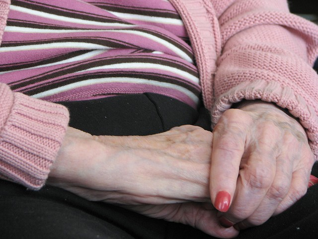 Grandmother hands